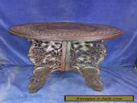 Vintage Carved Wood Eastern Coffee Table - Early 20th C [5515]